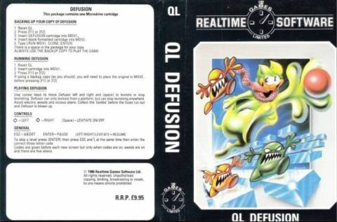 Inlay for Sinclair QL Defusion